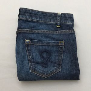 LILLY PULITZER Sz 8 Cropped Jeans Palm Beach Fit